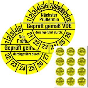 Mehrjahresprüfplakette: Nächster Prüftermin - Gemäß VDE - im Pack