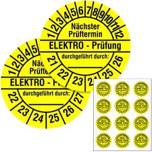 Mehrjahresprüfplakette: Nächster Prüftermin - Elektro Prüfung - im Pack