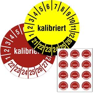 Mehrjahresprüfplakette: Kalibriert - im Pack