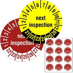 Mehrjahresprüfplakette: Next Inspection - im Pack