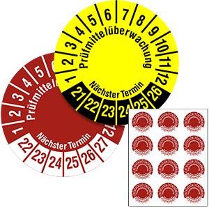 Mehrjahresprüfplakette: Prüfmittelüberwachung - im Pack