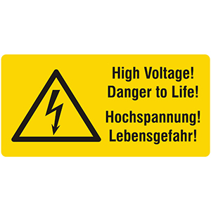 Hochspannung! Lebensgefahr! High Voltage! Danger to Life!