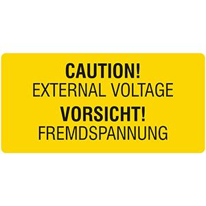 Vorsicht! Fremdspannung