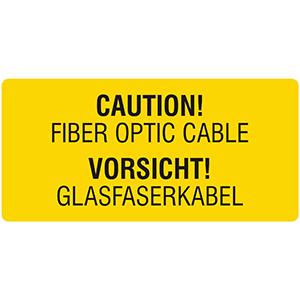 Vorsicht! Glasfaserkabel