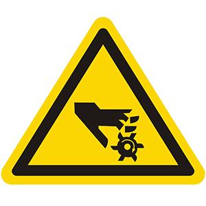 Warnung vor rotierendem Werkzeug