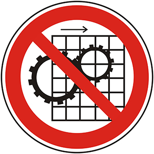 Prohibition Sign: Do Not Remove Protective Devices