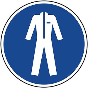 Mandatory Sign: Wear Protective Clothing
