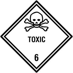"Selbstklebende Gefahrzettel Klasse 6.1 ""TOXIC"""