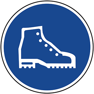 Mandatory Sign: Wear Safety Shoes
