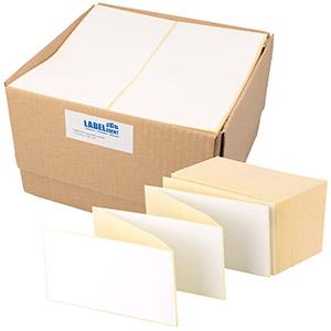 Leporello gefalzt, Thermo-Eco-Etiketten, weiß, matt, permanent klebend