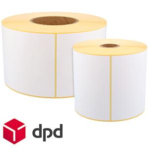 DPD Etiketten, Thermo-Eco-Etiketten, weiß, unbeschichtet, permanent klebend
