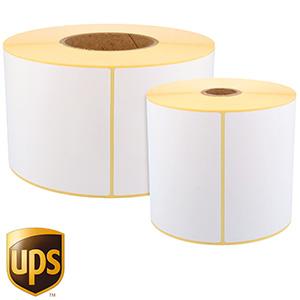 UPS Etiketten, Thermo-Eco-Etiketten, weiß, unbeschichtet, permanent klebend