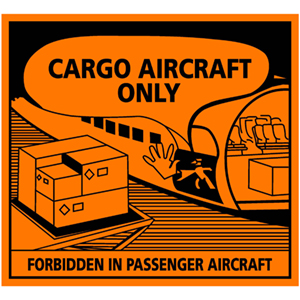 Transportaufkleber: Cargo aircraft only