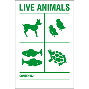 Transportaufkleber: Live Animals