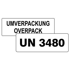 UN Etiketten rechteckig