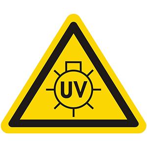 Warnung vor UV-Strahlen
