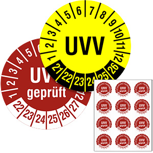 Inspection Date Labels: UVV - in Pack