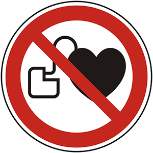 Prohibition Sign: No Persons with Pacemakers