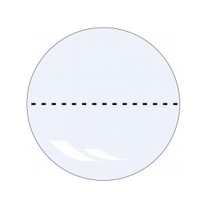 Verschlussetiketten auf Rolle, transparent permanent haftend, perforiert