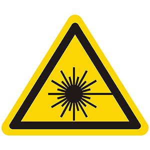 Caution Sign: Laser Beam Hazard, Laser Radiation