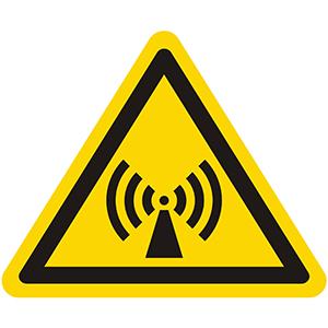 Warnung vor elektromagnetischem Feld