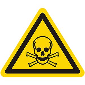 Warnung vor giftigen Stoffen (Totenkopf-Symbol)