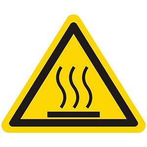 Warnung vor heißer Oberfläche
