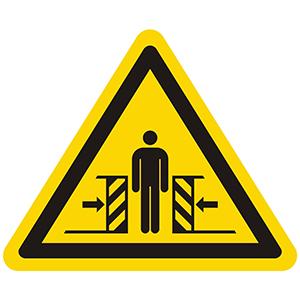 Warnung vor Quetschgefahr Warnaufkleber