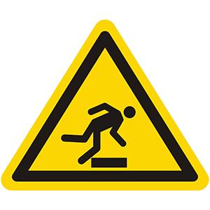 Warnung vor Stolpergefahr