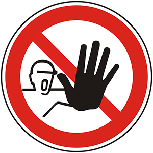 Prohibition Sign: No Access for Unauthorized Persons