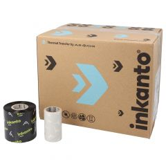 """Armor Armor AWR1, wax ribbon 55 mm x 300 m, 1"""" core diameter, ink side out, 25 roll(s)"""