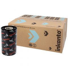Armor AXR 7+, resin ribbon 110 mm x 300 m, 1 inch (25.4 mm) core diameter, ink side out, 10 roll(s)