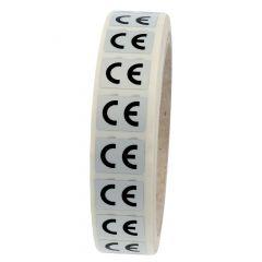 Elektrogeräte-Kennzeichen, Polyester, silber-schwarz, 18 x 13 mm, CE, 1000 Etiketten