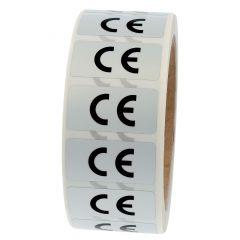 Elektrogeräte-Kennzeichen, Polyester, silber-schwarz, 38 x 19 mm, CE, 1000 Etiketten