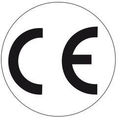 Elektrogeräte-Kennzeichen, Polyester, weiß-schwarz, Ø 10 mm, CE, 100 Etiketten