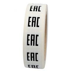 Elektrogeräte-Kennzeichen, Polypropylen, weiß-schwarz, 25 x 25 mm, EAC, 1000 Etiketten