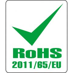 electronic equipment labels, polyester, white-green, 12.7 x 11 mm, Rohs 2011/65/EU, 1000 labels