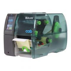 CAB SQUIX 4.3/300P, 300 dpi Etikettendrucker (Industrie), LCD Touchscreen, Modell mit Spender, Lineraufwickler (5977017)
