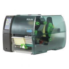 CAB SQUIX 6.3P, 300 dpi Etikettendrucker (Industrie), Modell mit Spender, Lineraufwickler (5977037)