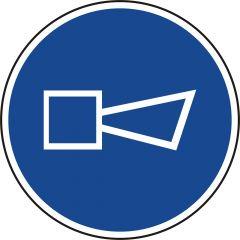Hupen, Gebotszeichen, Polypropylen, blau - weiß, Ø 20 mm