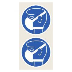 Leichten Atemschutz tragen, Gebotszeichen, Polypropylen, blau - weiß, Ø 100 mm