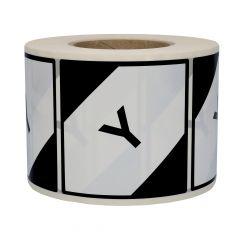 Gefahrgutetiketten, LQ, Polyethylen, weiß-schwarz, 100 x 100 mm, Y, 1000 Etiketten