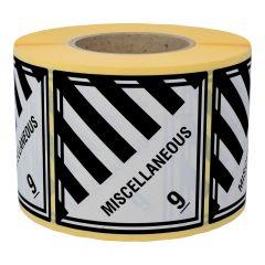 Gefahrgutetiketten, Verschiedene gefährliche Stoffe, Papier, weiß/schwarz, 100 x 100 mm, 1000 Etiketten