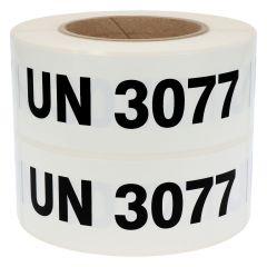 Gefahrgutetiketten, UN 3077, Polypropylen, weiß-schwarz, 150 x 50 mm, 1000 Etiketten