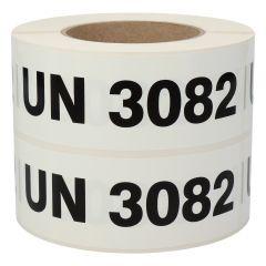 Gefahrgutetiketten, UN 3082, Polypropylen, weiß-schwarz, 150 x 50 mm, 1000 Etiketten