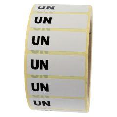 Gefahrgutetiketten, UN (Handbeschriftung), Papier, weiß-schwarz, 50 x 18 mm, 1000 Etiketten