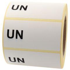Gefahrgutetiketten, UN (Handbeschriftung), Papier, weiß-schwarz, 100 x 50 mm, 1000 Etiketten