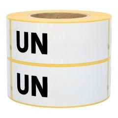 Gefahrgutetiketten, UN (Handbeschriftung), Papier, weiß-schwarz, 150 x 50 mm, 1000 Etiketten