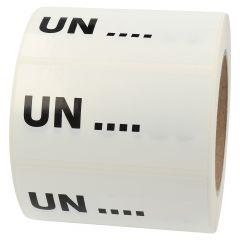 Gefahrgutetiketten nach Kundenwunsch, weiß, 100 x 50 mm