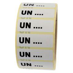 Gefahrgutetiketten nach Kundenwunsch, weiß, 50 x 18 mm